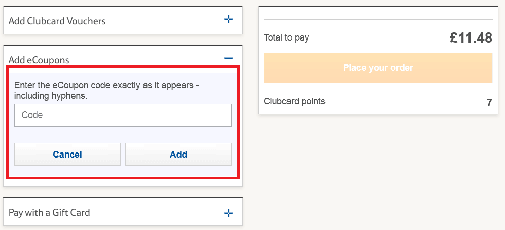 How to use Tesco Direct Discount Code